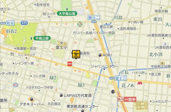 一宮店地図