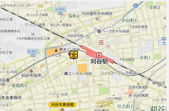 刈谷駅前店地図