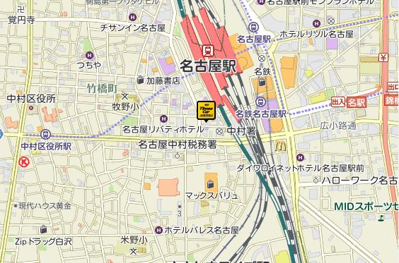 名古屋新幹線口店地図