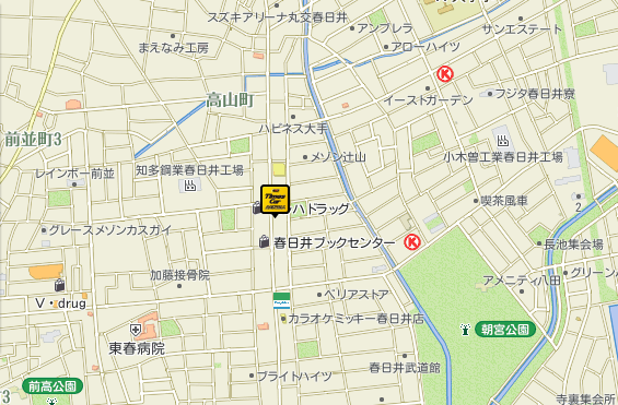 春日井店地図