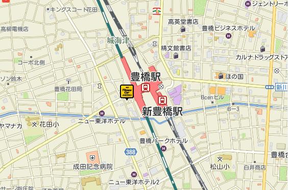 豊橋新幹線口店地図